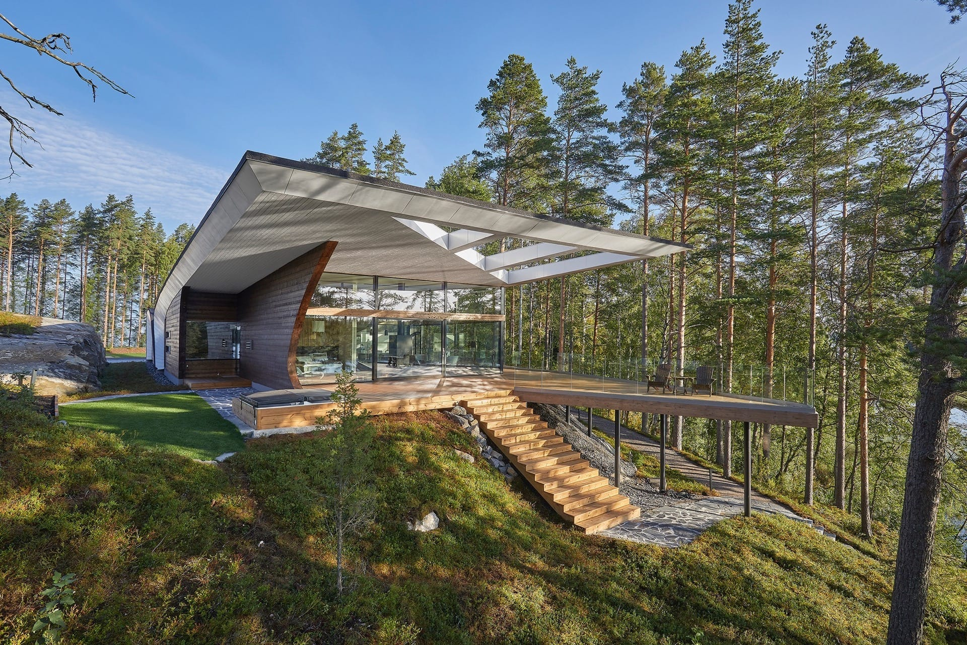 Хай-тек дом Wave House в Финляндии от Seppo Mäntylä, HQ architecture, HQarch, HQ arch, high quality architecture