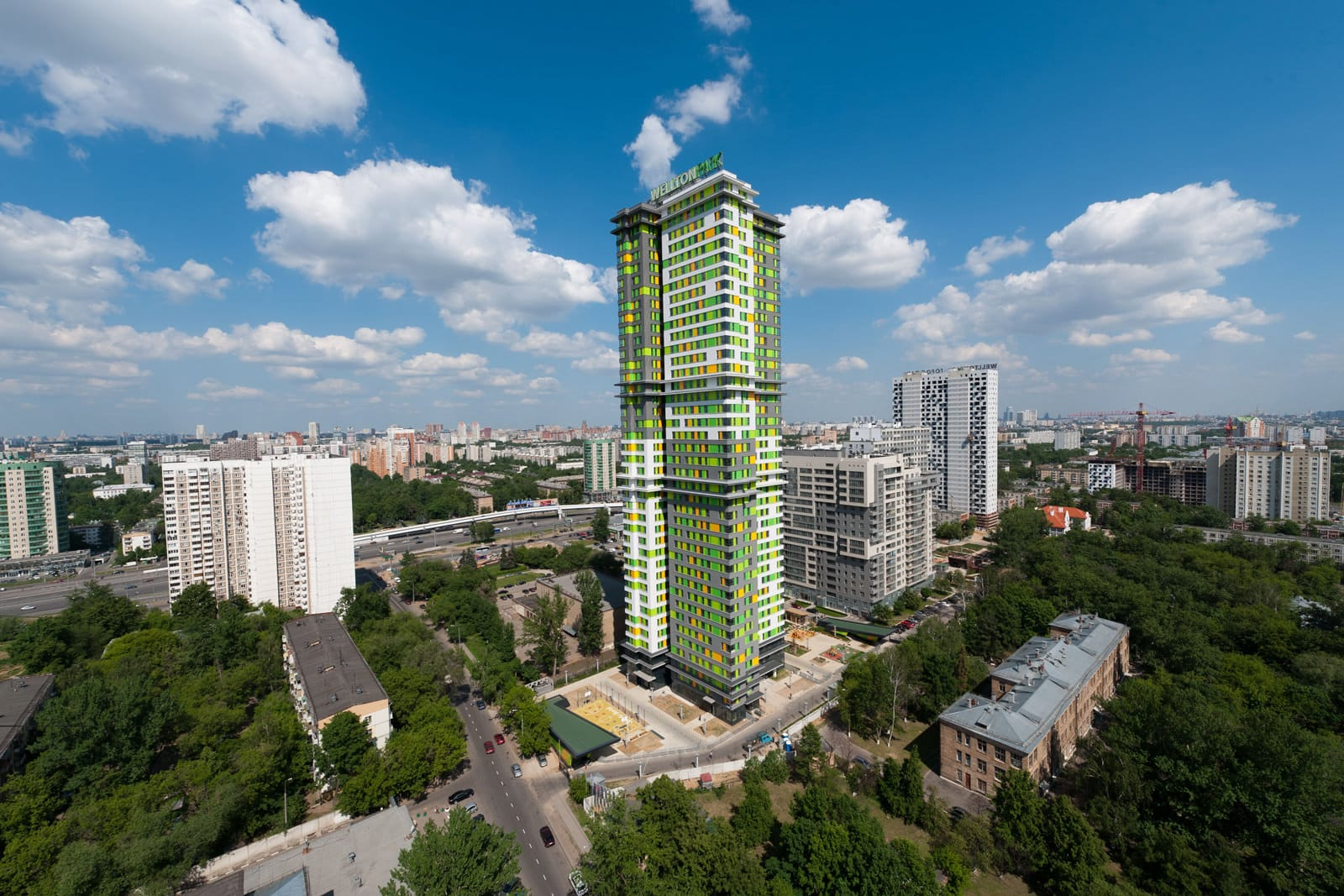 Высотный жилой дом в Москве от 4A Architekten, HQ architecture, HQarch, HQ arch, high quality architecture